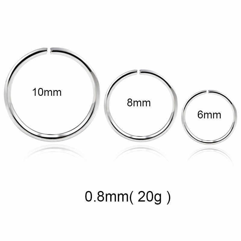 1PC แฟชั่นเหล็กบานพับแหวนจมูก Septum Clicker หูกระดูกอ่อน Tragus Helix Piercing Charming เครื่องประดับ 20g