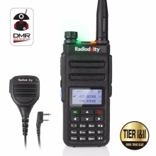 Radioddity GD-77 Dual Band Dual Time Slot DMR Digital / Analog Tvåvägs Radio 136-174 / 400-470MHz Skinka Walkie Talkie med högtalare