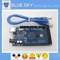 Бесплатная доставка!!! мега 2560 R3 Mega2560 REV3 ATmega2560-16AU Доска + USB Кабель, совместимый для arduino хорошее качество низкая цена