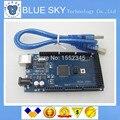 Free shiping!!! Mega 2560 R3 Mega2560 REV3 ATmega2560-16AU Board + Cabo USB compatível para arduino boa qualidade baixo preço