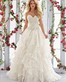 Joky Quaon Strapless Beading Bodice Bridal Gown Ball Gown 2017 Julie Vino Corset Vintage Wedding Dress Plus Size AliExpress Sign