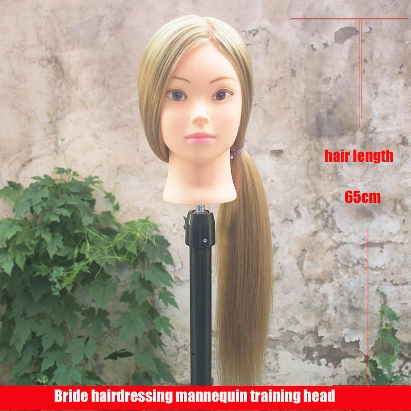 Profesional 65 cm Hairdressing Dolls Kepala Perempuan Mannequin - Perawatan rambut dan styling