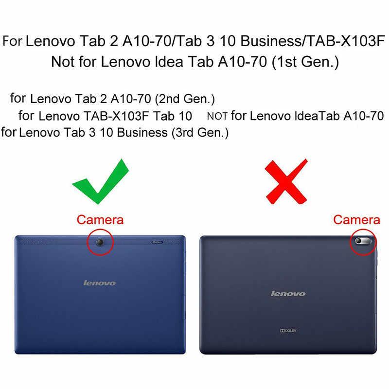 Yeni lenovo tab 2 a10-70 A10-70F/L A10 70 akıllı Flip deri kılıf kapak için lenovo tab 2 A10-70L Tablet 10.1'' tablet kılıfı