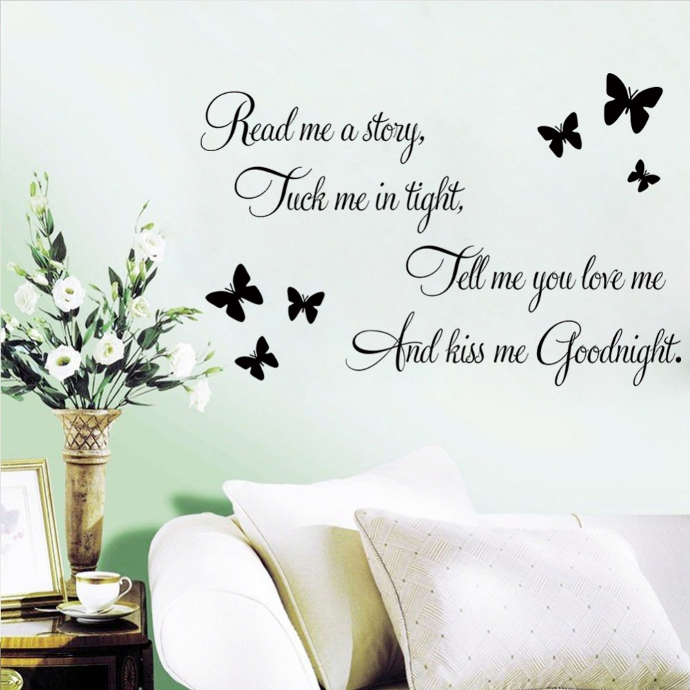 8477 Read Butterfly Diy Love Quote Wall Stickers Home