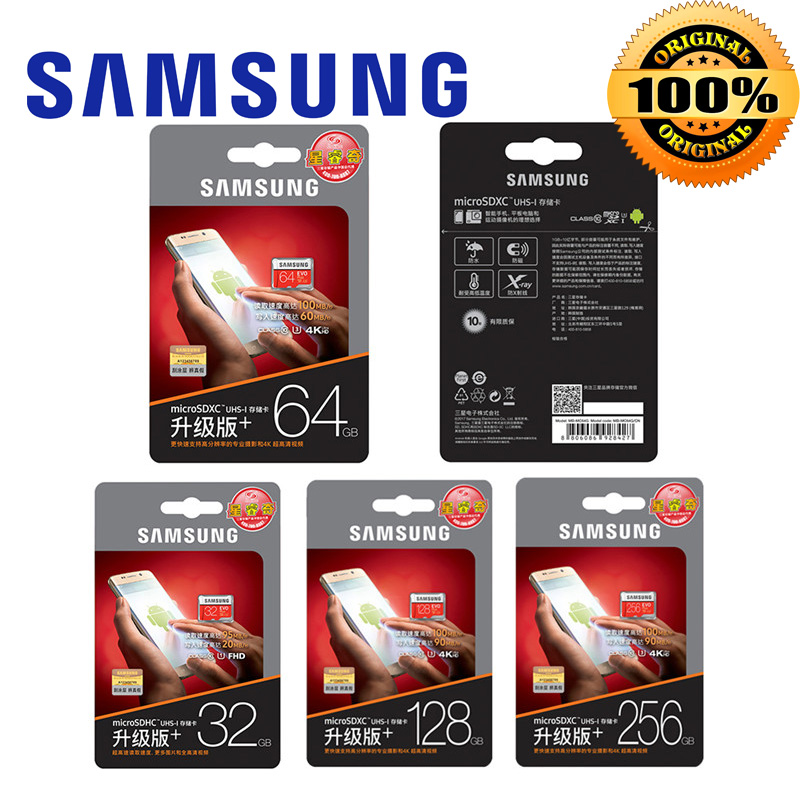 Image 5 - Карта памяти MicroSD SAMSUNG EVO + Micro SD 256 г SDHC 100 МБ/с. Класс Class10 слот для карт памяти C10 UHS I TF/SD карты модуль памяти Transflash карты памяти SDXC 64 Гб 128 для доставки-in Карты памяти from Компьютер и офис on AliExpress - 11.11_Double 11_Singles' Day