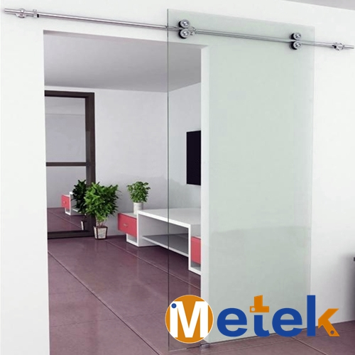 6.6FT нержавеющая сталь интерьер Душ стеклянные раздвижные двери сарая оборудования набор направляющих