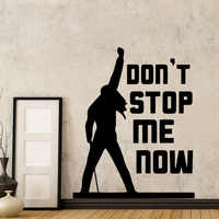 Classic Freddie Mercury Queen Band Music Don't Stop Me Now Quote Wall Sticker For Living Room Bedroom Decor Wall Decal Mural