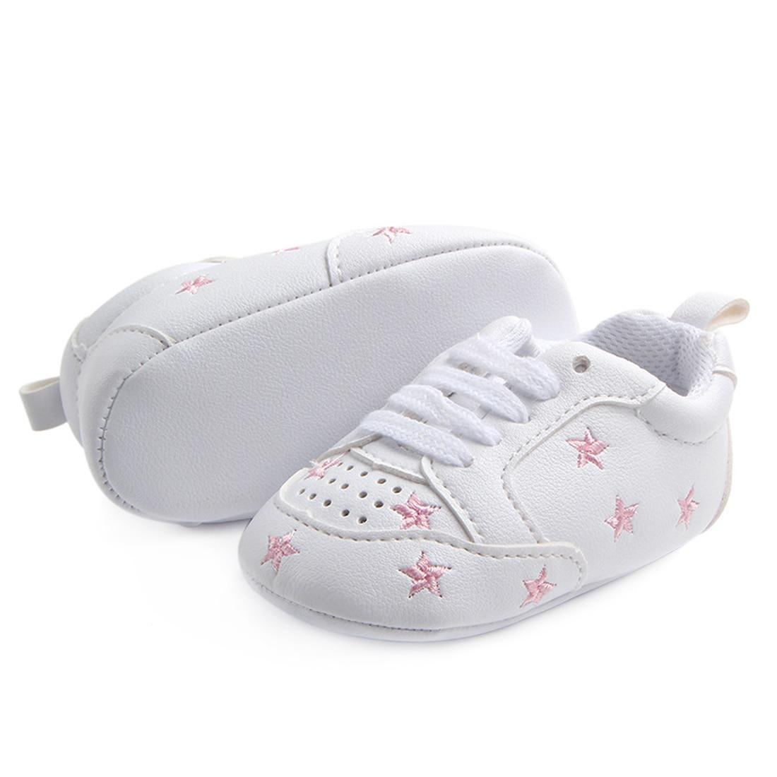 Купить с кэшбэком Baby Crib Shoes for Boys  Soft Sole PU Leather Moccasins Girl Sneakers Little Kid Newborn footwear Tenis Infantil Toddler Tennis