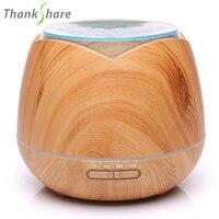 400 ml de Óleo Essencial Umidificador de Ar Ultra sônica Difusor Maker Mist Humidificador 7 Cor LED Aroma Difusor de Aromaterapia para Casa|Umidificadores| |  -