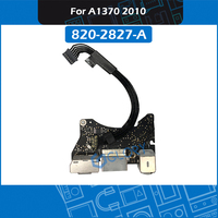 Original A1370 I/O Board 820 2827 A For MacBook Air 11 Late 2010 USB Audio Board Power DC Jack Replacement MC505