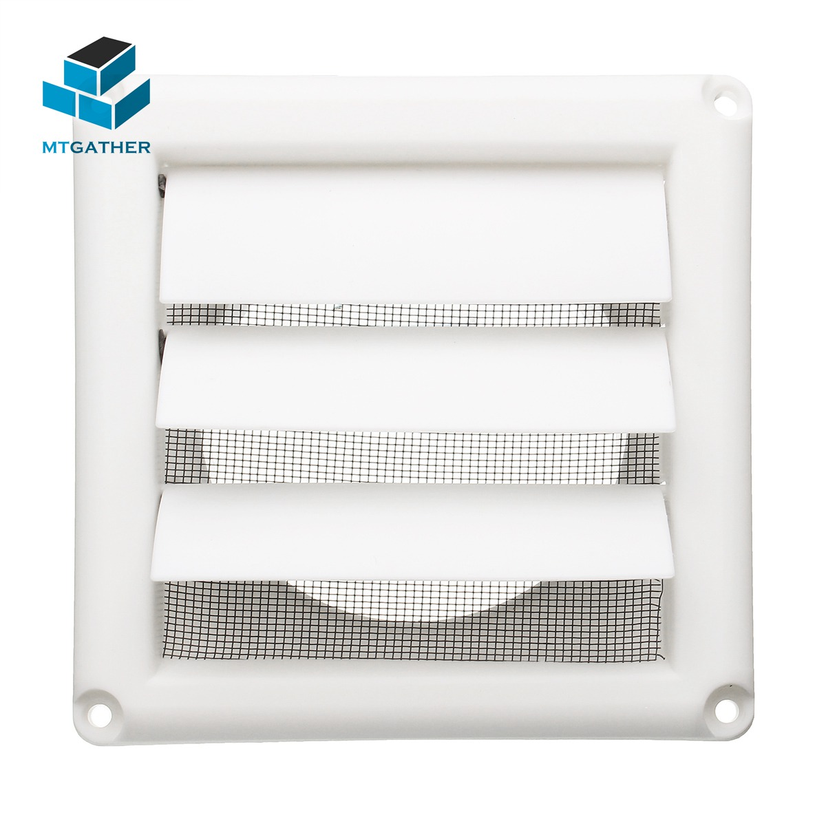 MTGATHER 5.6inch White Plastic Louvre Air Vent Grille With Adjustable Flyscreen Cover Heating Cooling & Vents Vents