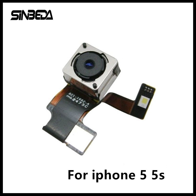 Sinbeda High Quality Replacement Part For iPhone 5 5G 5S Rear Facing Back Camera Lens Flex Cable Flash Module image