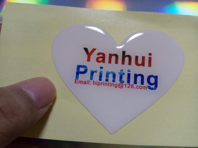Dome cartoon vinyl adhesive sticker printing