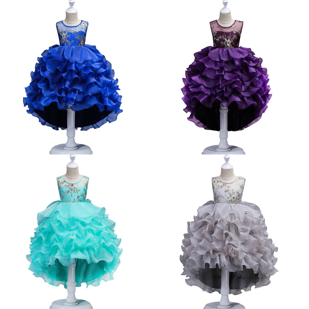 Cielarko Girl Dress Kids Flower Pageant Frock Baby tutu Wedding Party Formal Dresses Children New Year Clothes For Girl 5