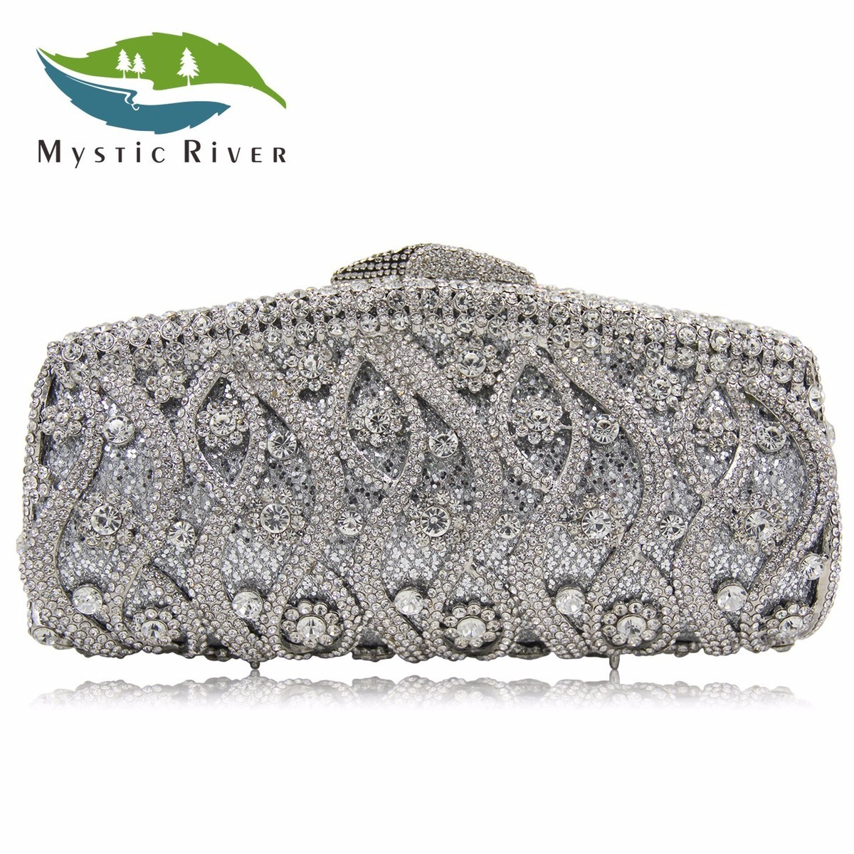 Mystic River 2018 New Arrive Women Luxury Crystal Female Clutch Evening Bags Top Quality Girls Party Bag Ladies Wedding Purse luxury crystal clutch handbag women evening bag wedding party purses banquet