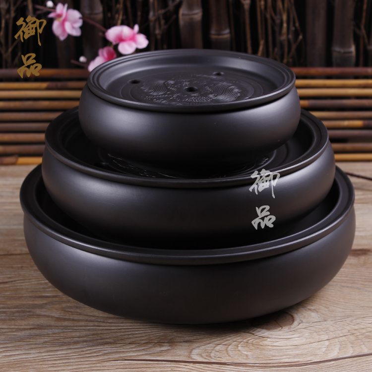 Tea Tray Handmade Yixing Redware(purple Clay) Ceramic Tea Sets, Traditional Chinese Tea Table
