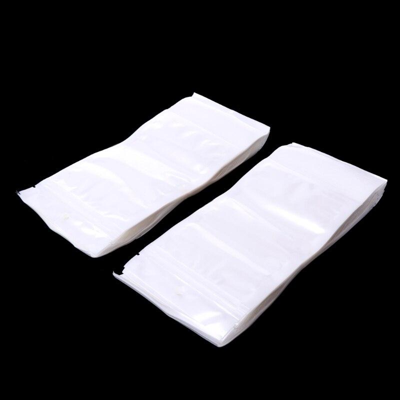 100pcs Clear Plastic Bag Grip Self Seal Resealable Ziplock Packing Bag Jewelry Findings Tool