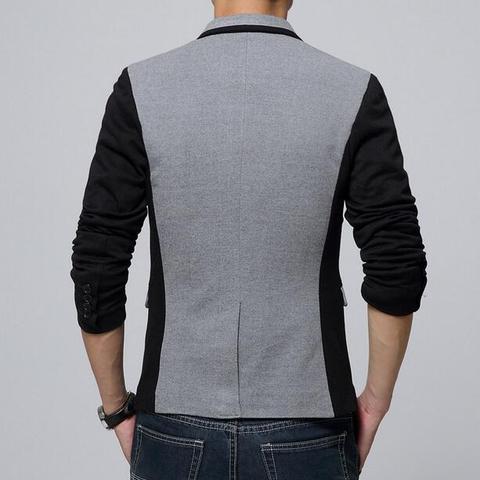 2019 new VXO Men Blazer Cotton Slim Blazer Masculino Male Suits Jacket Blazers Patchwork Suits For Men Blazers Business Jacket Islamabad