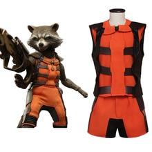 Disfraz de Rocket Raccoon para adulto, traje de Cosplay de Halloween o carnaval