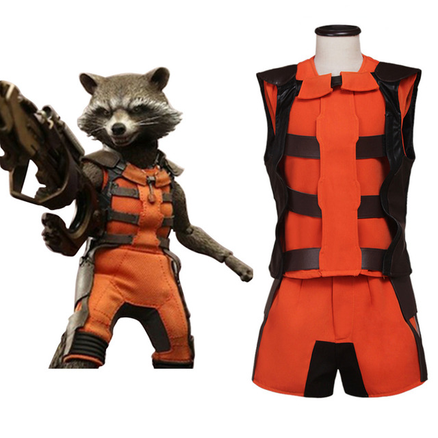 Rocket Raccoon Cosplay Costume Suit Adult Halloween Carnival Cosplay Costume