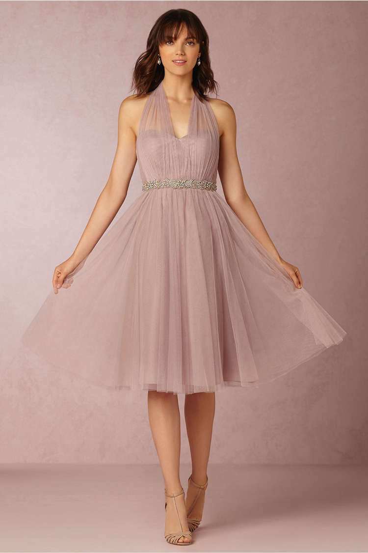 Convertible Dresses Short Bridesmaid Dresses A Line Custom Made Tulle Plus  Size Junior Bridesmaids Gowns Hot Sale Fashion Party-in Bridesmaid Dresses  ...