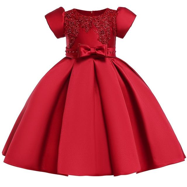 b5e2711f23f4 € 12.77 30% de DESCUENTO 2018 bebé niña bordado seda princesa vestido para  boda fiesta niños vestidos para niño niña moda Primavera ropa en Vestidos  ...