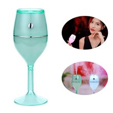 180mL Red Wine Shape Diffuser Humidifier Glass Portable Mini Air Freshener Purifier Aroma Essential Oil Diffuser for Home Office