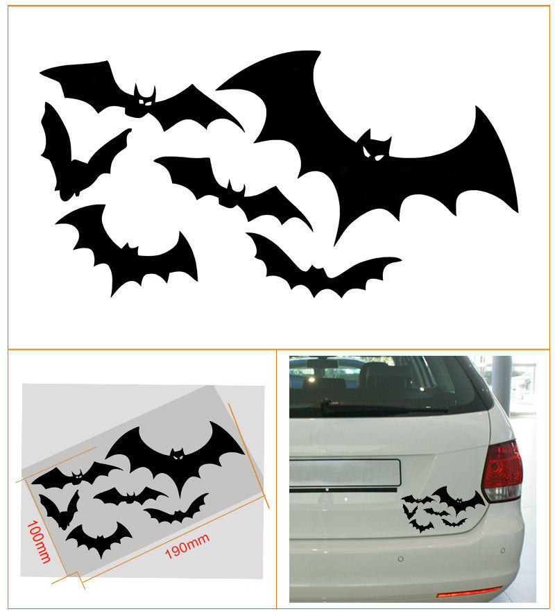 2016 Promotion Sale New The Whole Body Cartoon Glue Sticker A Group of Flying Bats Reflective Car Personalized Cr And Decal
