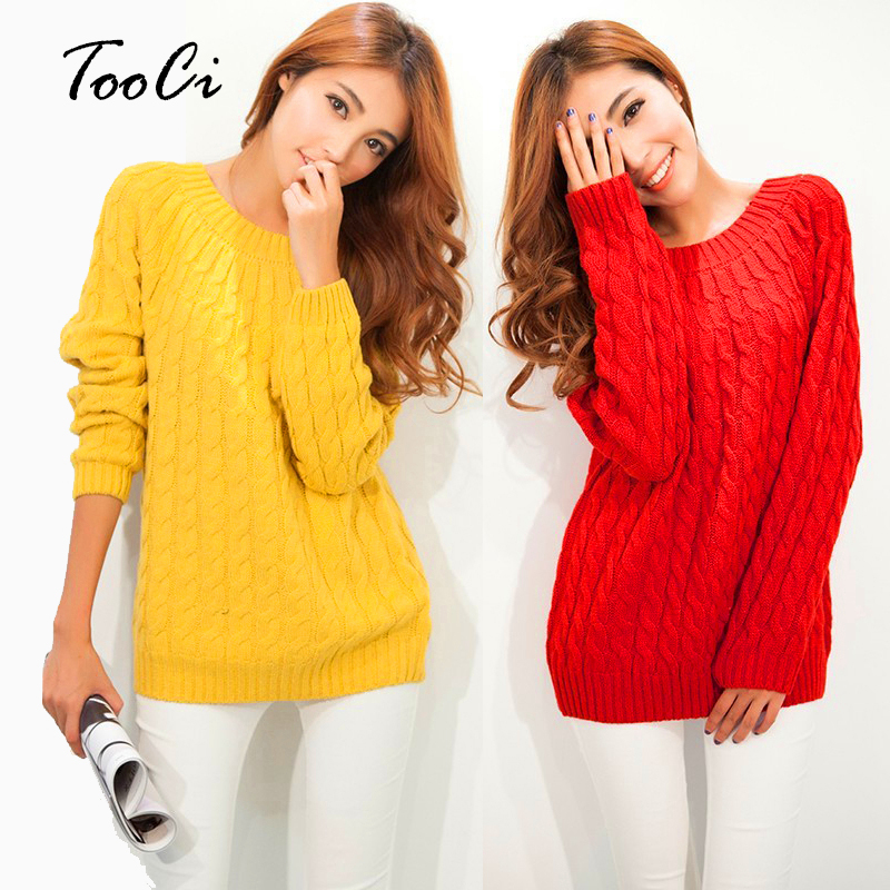 New Spring Women Sweater Red High Elastic Solid Color  Knitted Pullovers Casual Female Pull Femme Tops Casacos Femininos Sweater
