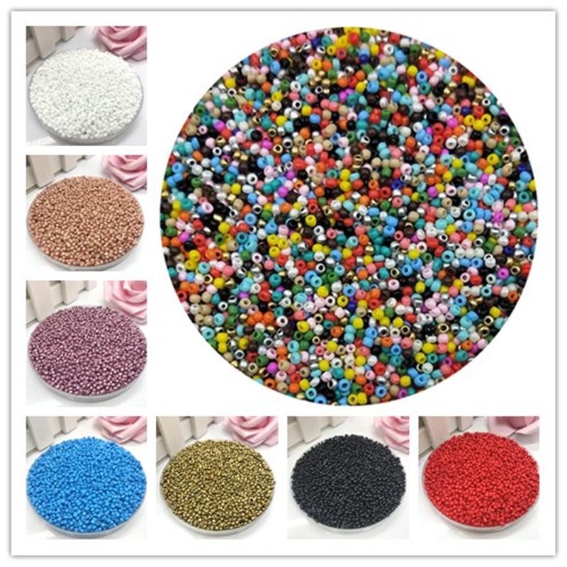 New 2mm 1000pcs Crystal Spacer Czech Glass Seed Beads For Jewelry Making Earring Necklace Bracelet Charms DIY Beads