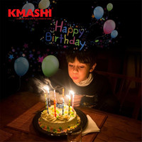 Kmashi 16 Pattern Slides Sparkling Laser Light Show Rotating Outdoor Projection Lights Christmas Projector Lights For