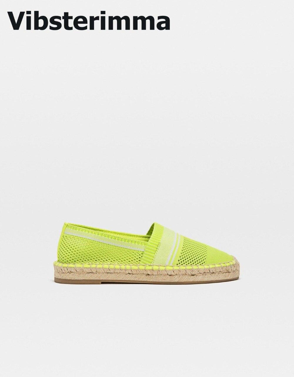 Vibsterimma/Лидер продаж 2019 г. Эспадрильи с вырезами, женские лоферы, женская повседневная обувь на плоской подошве