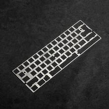 60% 61 64 stal aluminiowa pozycjonowanie płyta łączeniowa do DZ60 GH60 XD64 Bface GK64 DIY mechaniczne klawiatury darmowa wysyłka