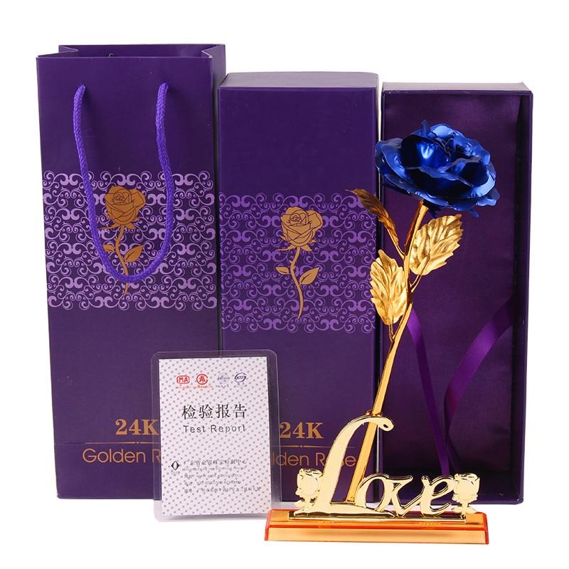 Valentine'i kingitus, 24k kuldne roosi väljavalitu lill + armastuse - Pühad ja peod - Foto 3