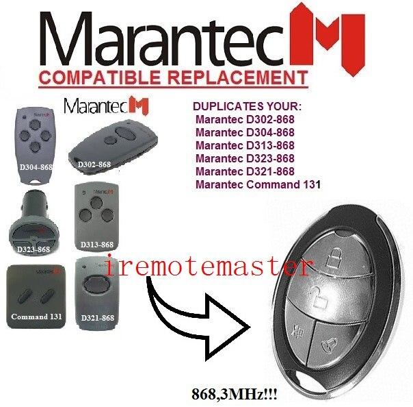 After market MARANTEC Command 131 D302-868,D304-868,D313-868,D323-868,D321remote control 868mhz free shipping marantec command 131 433 d302 433 d304 433 d313 433 d321 433 d323 433 repalcement remote control 433mhz free shipping