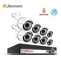 Jennov 8CH 3MP H.265 Audio Video Surveillance POE CCTV Camera System NVR Kit IP Cam Set Security Camera System HMDI P2P Danale