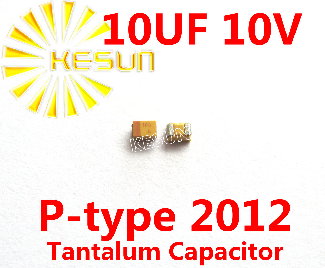 100% Original New <font><b>10UF</b></font> <font><b>10V</b></font> P type 0805 2012 SMD Tantalum Capacitor Connector TAJP106M010RNJ x100PCS FREE SHIPPING image