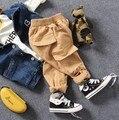 Only брюки 1 шт. 2-8Y новый 2017 весенние мальчики моды большой карман брюки дети брюки дети повседневные брюки мальчиков брюки