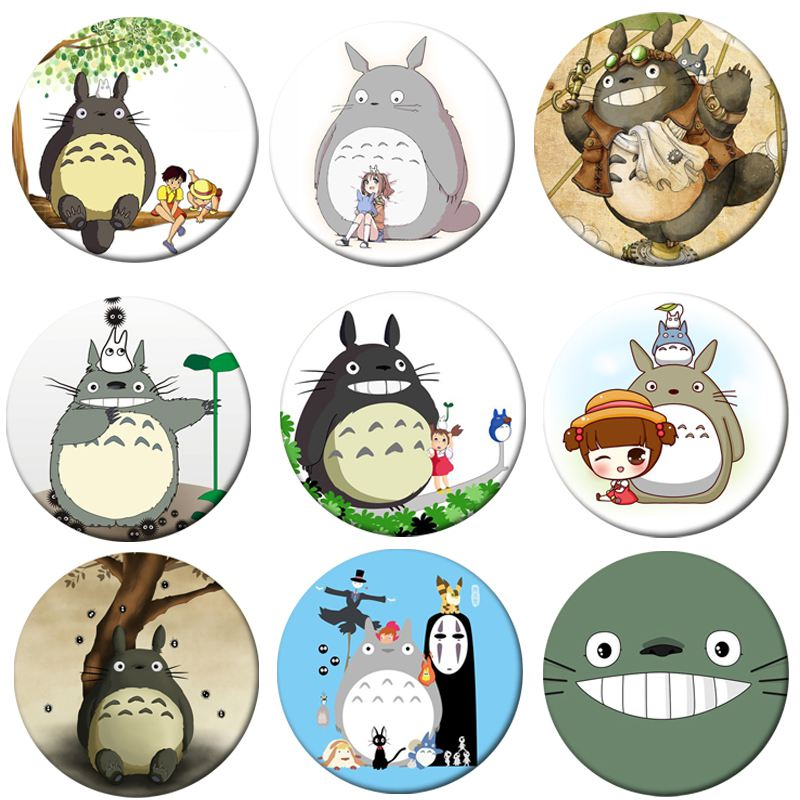 1pcs Tonari No Totoro Cosplay Badge Brooch Pins Japan Anime Mei Cute Collection Badges For Backpack Clothes