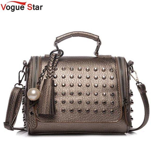 9a3a5e72ae96 Vogue Star Luxury Handbags Women Bags Designer Handbags High Quality PU  Leather Rivet Bag Famous Brand Retro Shoulder Bag LB02