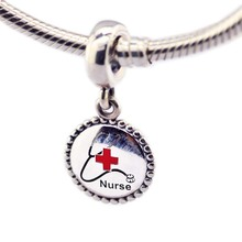Nurse Dangle Beads Fits Snake Chain Bracelet S925 Sterling Silver Pendant Charms Silver 925 Original Jewelry Making Berloque