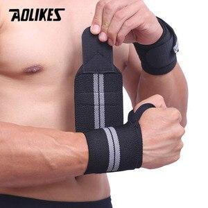 Image 5 - AOLIKES Băng 1 Dây Hỗ Trợ Cổ Tay Nâng Tạ Tập Gym Hỗ Trợ Cổ Tay Nẹp Dây Đeo Crossfit Powerlifting