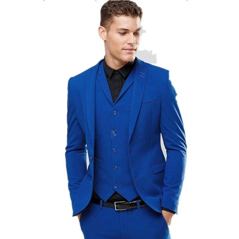 Vestiti Cerimonia Di Marca.Apple930043 Offerte Di Marca Royal Blue Men 3 Pezzo Smoking