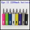 5 pçs/lote ego e cigarro 2200 mah EGO 2 Bateria Para ego II ego-II cigarro eletrônico Ego2/510 Fio Da Bateria Multi Cores