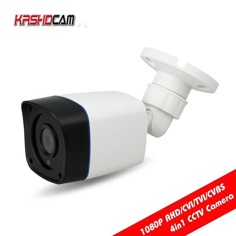 KRSHDCAM CCTV Security 1080P AHD Camera 4 in 1 bullet Camera 3.6mm lens Waterproof IP66 Outdoor Video Surveillance Night Vision okaros bathroom double towel bar 60cm towel rack towel holder solid brass golden chrome plating bathroom accessories