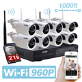 ZOSI 8ch 960p Wifi NVR 2TB HDD with 8 pcs Waterproof IR Bullet Wireless IP HD Camera/Wireless CCTV system kit