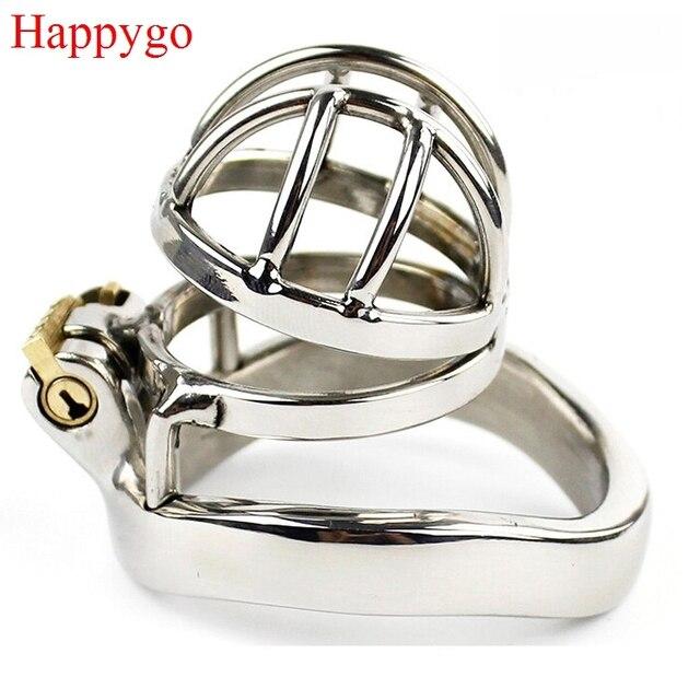 Happygo dispositif de chasteté mâle en acier inoxydable, Cage à bite, serrure de virginité, serrure de pénis, anneau de bite, ceinture de chasteté A273