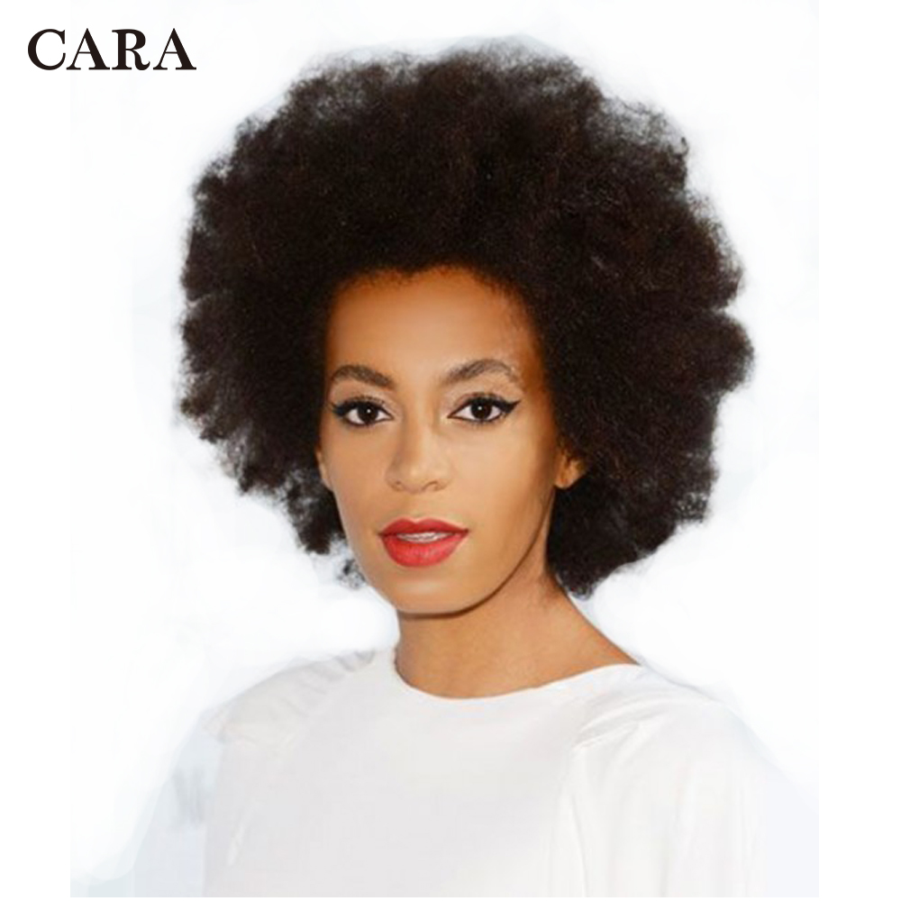 Brazilian Lace Front Wig Afro Kinky Curly Human Hair Wigs For Women Pre Plucked 130% Density Natural Black Remy Hair Wig