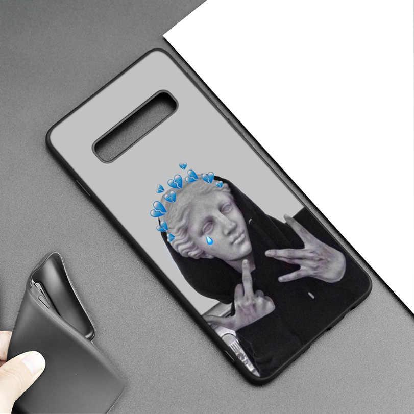 Medusa Vaporwave Art étui pour samsung Galaxy M20 S10e S10 S9 M10 S8 Plus 5G S7 S6 Edge Coque de protection