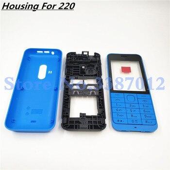 569ed997ed6 Nueva carcasa completa para Nokia 2690 funda de marco de placa frontal +  cubierta trasera cubierta de la puerta de la batería + teclado en inglés +  logotipo